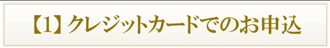 【1】クレジットカードでのお申込